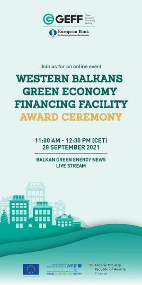 Green Energy Financing Facility (GEFF) Award Ceremony for the Western Balkans