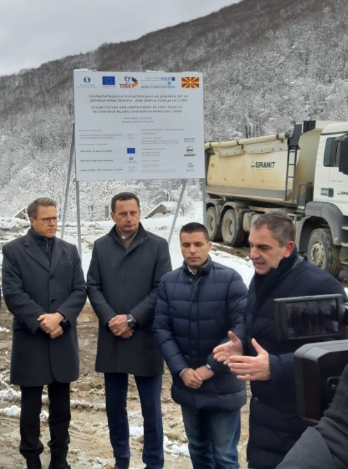 2018 Connectivity Project: Start of the Reconstruction Works on Corridor VIII Road Section in North Macedonia