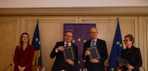 Signature of the First Connectivity Agenda Grant for Kosovo*